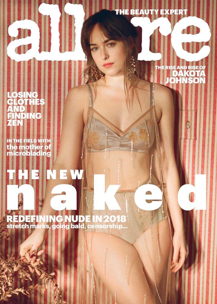 PHOTO: Dakota Johnson is the cover star for Allures New Naked issue .
