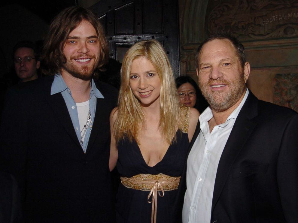 PHOTO: (L-R) Chris Backus, Mira Sorvino and Harvey Weinstein attend HBOs Annual Pre-Golden Globes Party hosted by Colin Callender, Chris Albrecht and Carolyn Strauss at Chateau Marmont, Jan. 14, 2006 in Los Angeles.