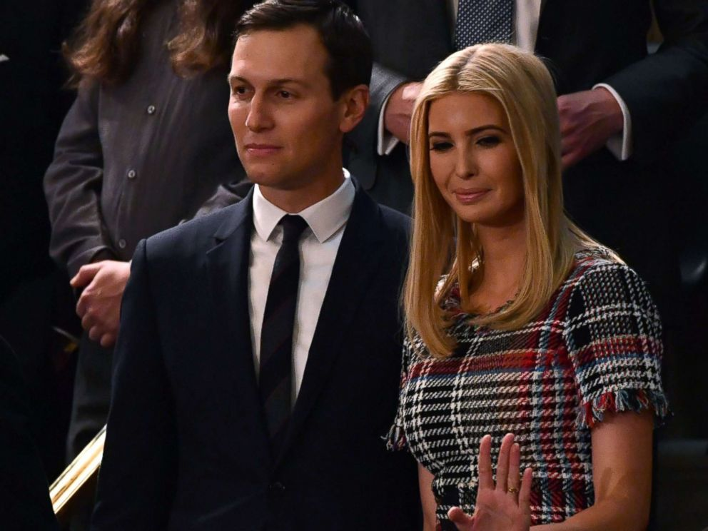 PHOTO: Senior Advisor to the President Jared Kushner and Ivanka Trump arrive for the State of the Union address at the U.S. Capitol in Washington, Jan. 30, 2018.