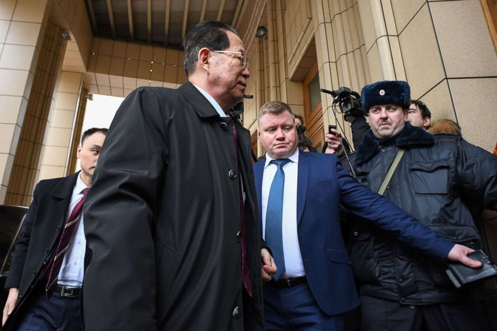 North Koreas ambassador to Russia Kim Hyun-joon arrives at the Russian Foreign Ministry headquarters to for a meeting with the ministrys experts on the poisoning of former double agent Sergei Skripal in an England this month, in Moscow, March 21, 2018.