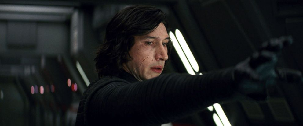PHOTO: Kylo Ren (Adam Driver) uses the force to communicate with Rey through space and time in Star Wars: The Last Jedi.