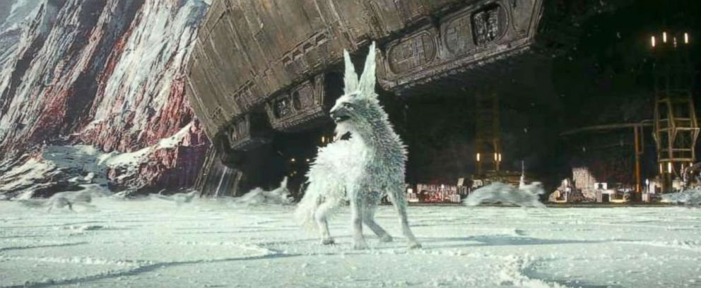 PHOTO: Vulptex in a scene from Star Wars: Episode VIII - The Last Jedi, 2017.
