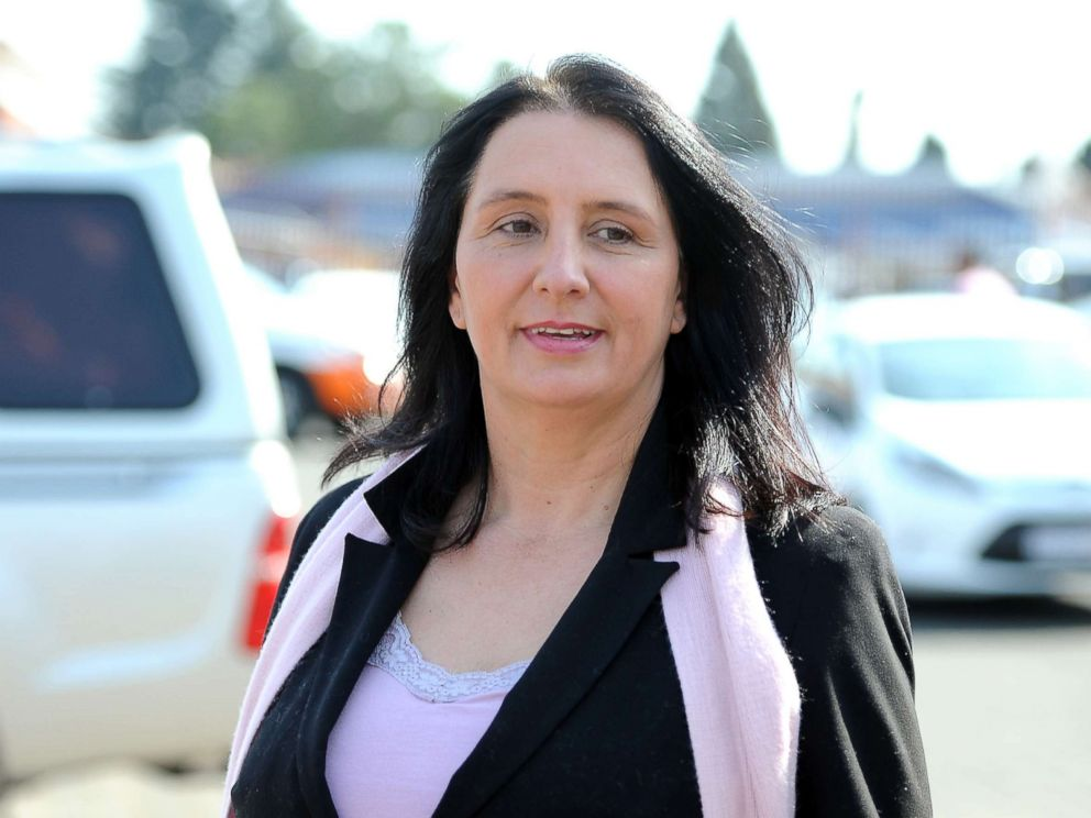 PHOTO: Vicki Momberg is pictured during her appearance at the Randburg Magistrate Court for charges of crimen injuria, Sept. 6, 2016 in Johannesburg, South Africa.