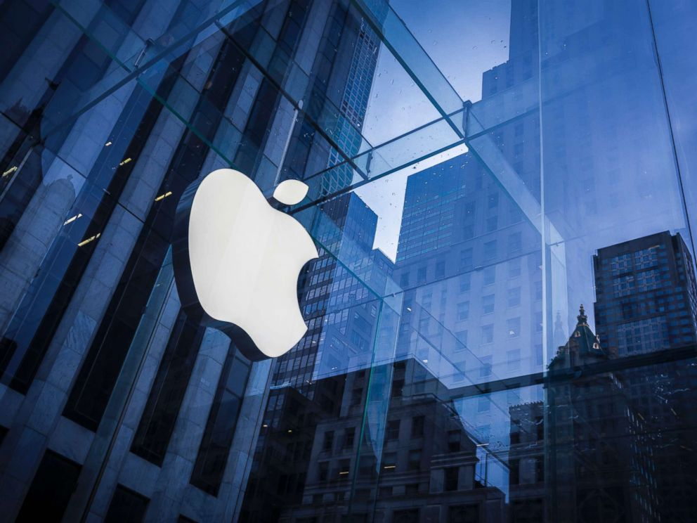 PHOTO: The logo of Apple is seen on an Apple Store in New York. Feb. 25, 2016.