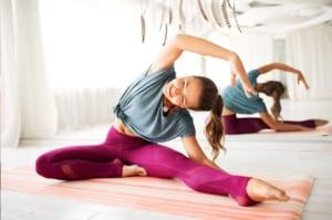 yoga postures side stretch